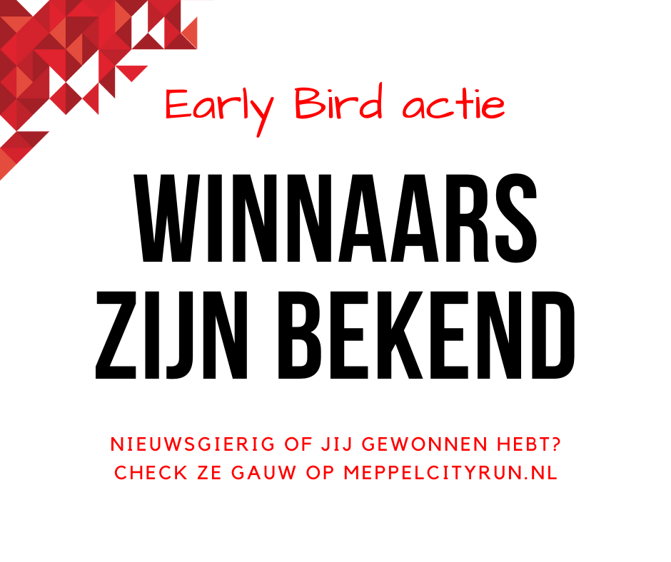 Early Bird winnaars bekend